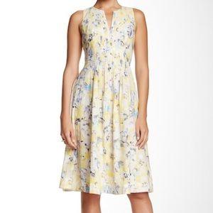 Rebecca Taylor Aloha Pintuck Pleated Midi Dress
